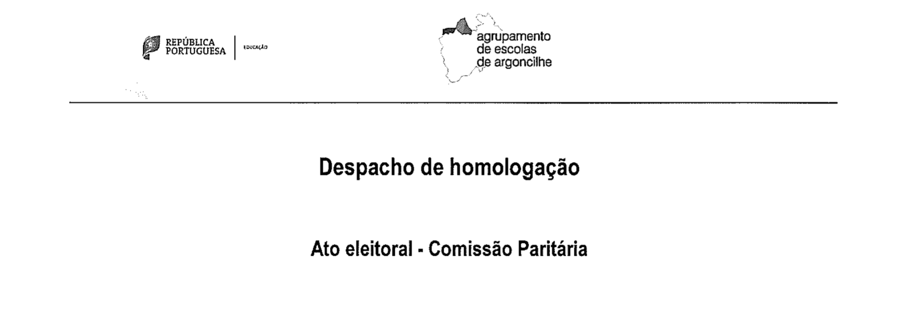 Download Despacho de homologação